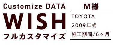 Customize DATA WISH フルカスタマイズ M様 TOYOTA WISH 2009年式 施工期間/6ヶ月